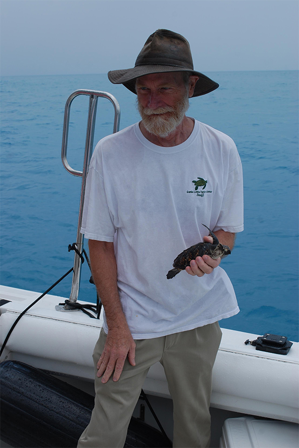 release a juvenile hawksbill from the RV Hawksbill in the Florida Keys